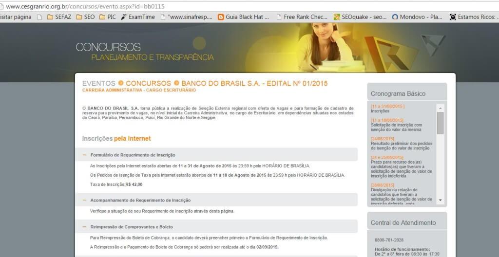 concurso banco do brasil 2016